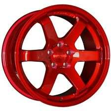 "18"" BOLA B1 ALLOY WHEELS CANDY RED FITS SUBARU IMPREZA FORESTER LEAGCY OUTBACK"