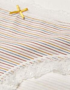 Fat Face Multi Stripe Cotton & Lace Briefs