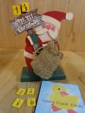 """SANTA CLAUS FIGURINE 7"""" Wood COUNTDOWN TO CHRISTMAS DAY Numbers"""