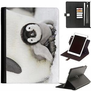 Penguin Cute Luxury Apple Ipad 360 Swivel Ipad PU Leather Case Cover