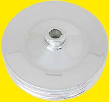 Chrome Sbc Bbc Chevy 2 Grove 18 Key Way Power Steering Pump Pulley Saginaw