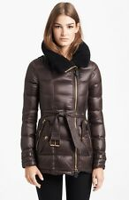 Burberry Brit Moysbrookes Shearling Collar Goose Down Jacket Coat  L
