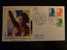 FRANCE PREMIER JOUR FDC N° 2219/21  LA LIBERTE DE GANDON  1,60+F  PARIS   1982