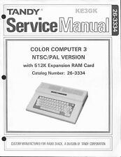 Tandy Color Computer 3 Service Manual * CoCo3 * CDROM * PDF