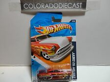 2011 Hot Wheels #91 Red Custom '53 Chevy w/5 Spoke Wheels