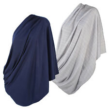 Infinity Nursing Scarf Breastfeeding Cover 2pk set Ultra Soft in Grey and Navy