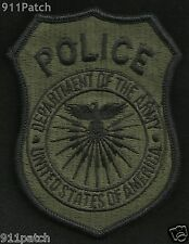 Department of the ARMY Military POLICE Law Enforcement Shield Patch - Subdued