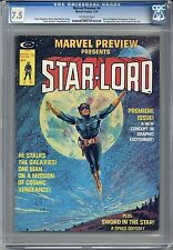MARVEL PREVIEW #4 CGC 7.5 OFF-WHITE Pgs 1ST App STARLORD Free Shipping