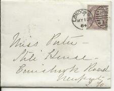 Letter, 1884 Cover London to Newport Isle of Wight