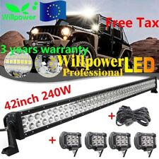 42inch 240W LED Light Bar +4X4inch 18W Offroad Driving Lamp SUV CAR Truck 12/24V