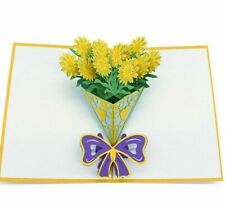 Gift Cards Birthday Anniversary Pop Up Greeting Postcard Laser Cut With Envelope