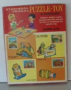 VINTAGE 1966 STORYBOOK FRIENDS JIGSAW PUZZLE-TOY  ACTION  WHITMAN JOHN SANDS