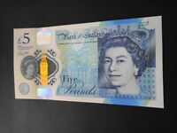 2 England Great Britain 5 Pound GEM Uncirculated New Polymer Bank England Note