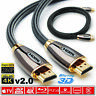 1m/2m/4m/5m/10m/15m/20m PREMIUM HDMI v2.0 HD High Speed 4K 2160p 3D Cable Lead