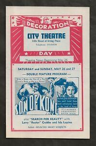 1934 SON OF KONG ORIGINAL THEATER NEWS HERALD