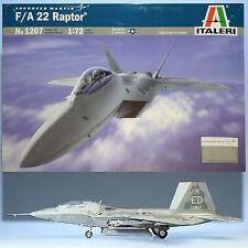 ITALERI 1/72 LOCKHEED F/A-22 RAPTOR MODEL KIT NO 1207