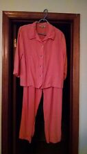 Cynthia Maxx, RELAX, Orange Cream Pant Suit, Sz. XL