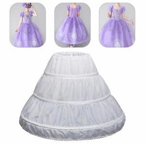 A-line 3 Hoops Children Skirt Wedding Party Flower Girl Kid Underskirt Petticoat