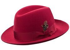 Selentino New Gino Please Genuine Suede Fur Felt Fedora Hat, 9 Colors, All Sizes