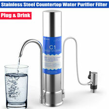 Purifier Countertop Water Filter Stainless Steel Drinking Water Purifier Silver