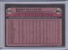 BERT BLYLEVEN 1989 Topps Blank Front Error #555 (C439)