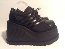 Demonia Punk Platform Creepers Black Lace up Sneakers Stomp-08 Size 10