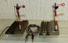 2x Märklin 445 altes Flügelsignal für durchgehenden Mittelleiter RAR H0