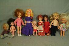 lot 9 small vintage baby dolls Garden Gal Kenner Playmate Mattel