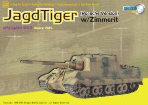 Dragon Armor 60111 Jagdtiger Porsche Production w/Zimmerit, s.Pz.Jg.Abt.653, Als