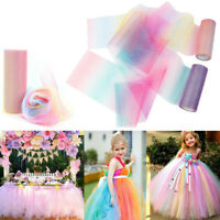 10 Yard Rainbow Glitter Tulle Roll Fabric Netting Wrap Craft DIY Wedding Decors