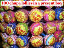 100 CHUPA CHUPS MIXED LOLLIES Sweets party mix hamper present box  uk seller