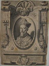 PETRUS (PIETER) DE JODE (1570 -1634):  Portrait Scipio Ammiratus canon Florent e