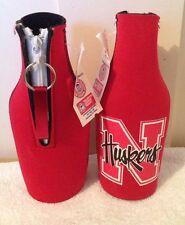 Nebraska Huskers Red Bottle Holder with opener
