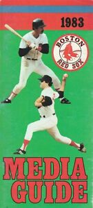 1983 Boston Red Sox Official Media Press Guide 84 Pages L@@K Scans Best Deal