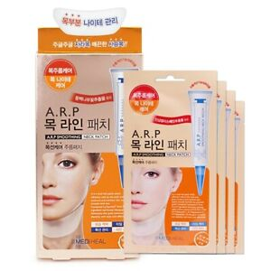 [MEDIHEAL] ARP Smoothing Neck Patch Mask Pack (4pcs) Korean Cosmetics Beauty