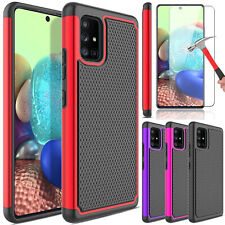 For Samsung Galaxy A71 5G Phone Case Rugged Hybrid Cover /Glass Screen Protector