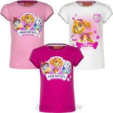 New girls licensed Disney Paw Patrol summer t-shirts short sleeve top cotton