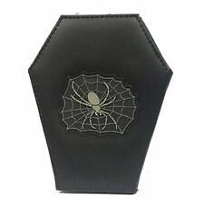 Gothic Coffin & Spider Wallet With Zip Coin Purse