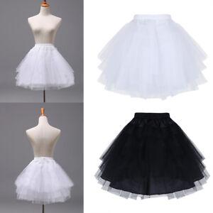 Reifrock 3 Ringe Kinder Petticoat 50er Krinoline Hochzeit Unterrock Schwarz Weiß