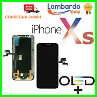 DISPLAY LCD SCHERMO VETRO PER IPHONE XS OLED TOP TOUCH SCREEN NERO RICAMBIO
