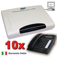 Kit Centralino telefonico analogico 4/16 linee Disa 90 s.+ 10 telefoni Panasonic