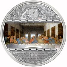 Cook Islands 2008 LEONARDO DA VINCI LAST SUPPER Masterpieces of Art Silver Coin