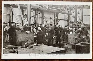 ANTIQUE PPC INSTRUCTORS AND RECRUITS IN BOILER SHOP R.N COLLEGE DARTMOUTH G & P