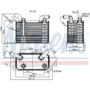 1 Ölkühler, Automatikgetriebe NISSENS 90722 passend für VW