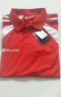 Men's KOOGA Rugby Polo-Shirt Red  Color Size LRG BNWT