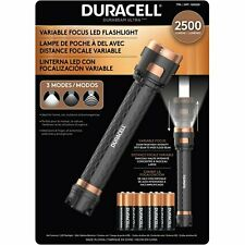 Duracell 2500 Lumens Flashlight Variable Focus LED  3 Modes, Batteries Included