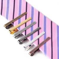 2X Fashion Men Metal Silver Tone Simple Necktie Tie Pin Bar Clasp Clip Clamp Hot