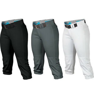 Easton Prowess Women's Adult Fastpitch Pant A167 120 - White, Black, & Charcoal