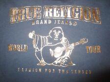 True Religion Boys Size 7 Gold Buddha Tee T-Shirt Navy/Gold NWT