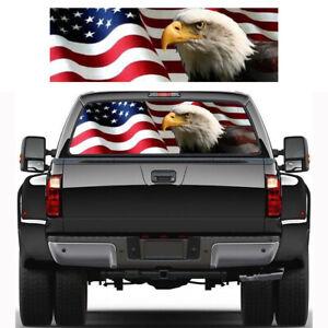 Car Sticker American Flag Eagle Rear Window Graphic Decal for Truck SUV J1C8